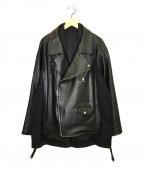 HARE()の古着「レザーサムエライダースジャケット」|ブラック
