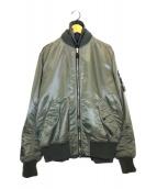 uniform experiment(ユニフォームエクスペリメント)の古着「リバーシブルMA-1ジャケット」 グレー