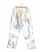 COMME des GARCONS HOMME PLUS(コムデギャルソンオムプリュス))の古着「Metallic painted trousers」 シルバー