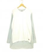 CDG(シーディージー)の古着「ロングスリーブカットソーシャツ」 ホワイト