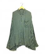 SSZ(エスエスゼット)の古着「オーバーサイズチェックシャツ」|グリーン