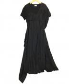 REKISAMI(レキサミ)の古着「カットソーコンビワンピース」|ブラック