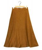 ()の古着「リネンライクスカート」 ブラウン
