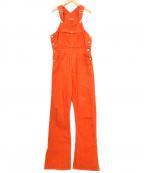 holiday(ホリデイ)の古着「カラービッグオーバーオール」|オレンジ