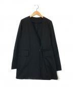 GARAGE OF GOOD CLOTHING(ガレージオブグッドクロージング)の古着「綿麻ラチネVネックジャケット」|ブラック