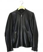 STUDIOUS(ステュディオス)の古着「シングルレザージャケット」|ブラック