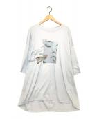 ()の古着「フェイスハンドスーパービッグシルエットTシャツ」 グレー