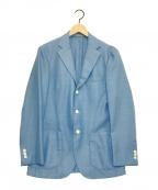 EDIFICE(エディフィス)の古着「アンコンジャケット」 ライトブルー