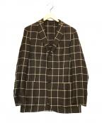 Errico Formicola(エリコフォルミコラ)の古着「チェック3Bジャケット」|ブラウン