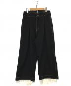 sulvam(サルバム)の古着「ハイウエストパンツ」|ブラック