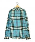 BURBERRY BRIT(バーバリーブリット)の古着「チェックシャツ」|ブルー