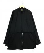 BLACK COMME des GARCONS()の古着「異素材切替デザインシャツ」|ブラック