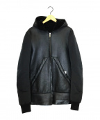 RICK OWENS(リックオウエンス)の古着「スリーブチェンジラムレザージャケット」|ブラック