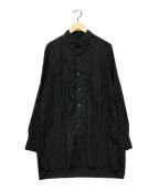 B Yohji Yamamoto(ビーヨウジヤマモト)の古着「B/No フューチャープリントシャツ」 ブラック