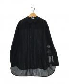 ANAYI(アナイ)の古着「シアーシャツ」|ブラック