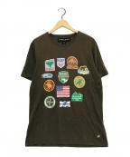 HUNTING WORLD(ハンティングワールド)の古着「プリントTシャツ」|ブラウン