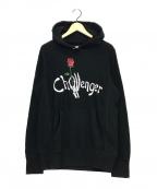 CHALLENGER(チャレンジャー)の古着「Skull Hand Logo Hoodie」 ブラック