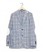 L.B.M.1911(ルビアム1911)の古着「リネンブレンドチェックジャケット」|ホワイト×ブルー