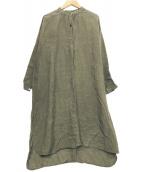 ()の古着「リネンブラウスワンピース」|グレー