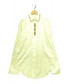 ()の古着「装飾シャツ」|ベージュ