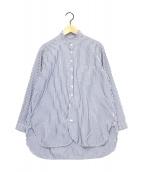()の古着「ストライプシャツ」|ネイビー×ホワイト