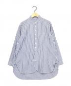 nest Robe(ネストローブ)の古着「ストライプシャツ」|ネイビー×ホワイト