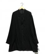 YohjiYamamoto pour homme(ヨウジヤマモトプールオム)の古着「真鍮チェーンロングレイヤードシャツ」|ブラック
