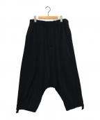 YohjiYamamoto pour homme(ヨウジヤマモトプールオム)の古着「縦接サルエルパンツ」|ブラック