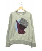 ()の古着「Soe Shirts スウェットパッチワーク」|グレー