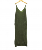 TAN(タン)の古着「LUSTER DRESS」 カーキ