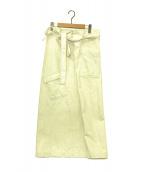 ()の古着「One Shoulder Strap Sarong Skir」|ホワイト