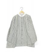 ()の古着「貴族シャツ」|グレー×ホワイト