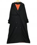 keisuke yoneda(ケイスケヨネダ)の古着「DROP OVER TRENCH COAT」|ブラック