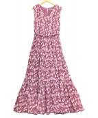 ()の古着「ベルテッドワンピース」|ピンク