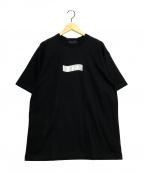 GOD SELECTION XXX(ゴットセレクショントリプルエックス)の古着「メタリックロゴTシャツ」|ブラック