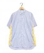 COMME des GARCONS SHIRT(コムデギャルソンシャツ)の古着「ショートスリーブシャツ」|ブルー