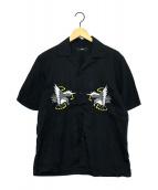 ()の古着「刺繍シャツ」|ブラック