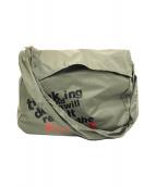 ()の古着「ナイロンメッセンジャーバッグ」|グレー