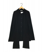 ()の古着「デザインウールシャツ」 ブラック