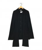 YohjiYamamoto pour homme(ヨウジヤマモトプールオム)の古着「デザインウールシャツ」|ブラック