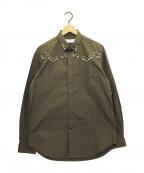 TOGA VIRILIS(トーガ ビリリース)の古着「スタッズシャツ」 ブラウン