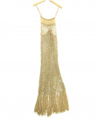Little suzie()の古着「Handmade Macrame Knit Dress」 ベージュ