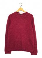 Settefili Cashmere(セッテフィーリ カシミア)の古着「カシミヤブレンドクルーネックニット」|ピンク