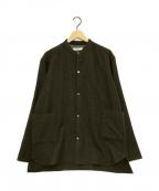nestrobe confect(ネストローブ コンフェクト)の古着「バンドカラーウールシャツジャケット」 カーキ