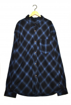 glamb(グラム)の古着「ビッグオンブレチェックシャツ」|ブルー