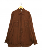 KAPTAIN SUNSHINE(キャプテンサンシャイン)の古着「ウエスタンカウボーイシャツ」|ブラウン