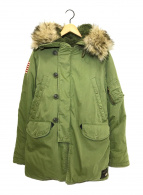()の古着「N-3Bコート」 カーキ