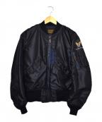 THE REAL McCOY'S(ザリアルマッコイズ)の古着「L-2Aフライトジャケット」 ネイビー