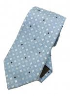 LOUIS VUITTON(ルイ ヴィトン)の古着「モノグラムシルクタイ」|ブルー
