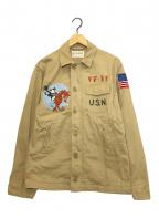 TOYS MCCOY(トイズマッコイ)の古着「USN FELIX VF-31 UTILITY」|ベージュ